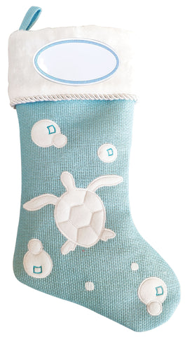 PBS157 CT - Turtle Coastal Personalized Christmas Stocking