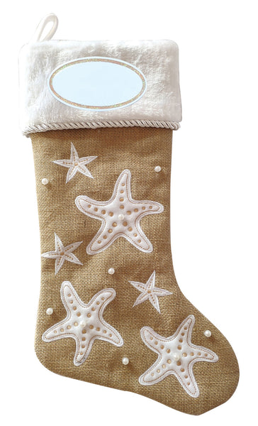PBS160 CS - Starfish Coastal Personalized Christmas Stocking
