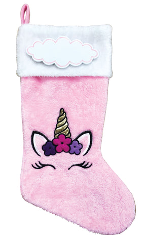 PBS166 UN - Unicorn Personalized Christmas Stocking