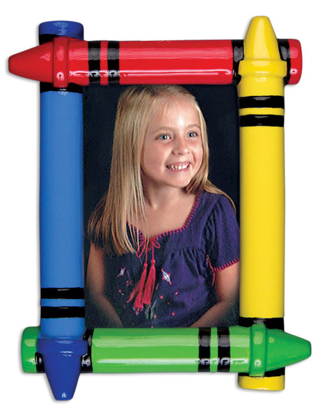 PF1093 - Crayon Frame Personalized Christmas Ornaments