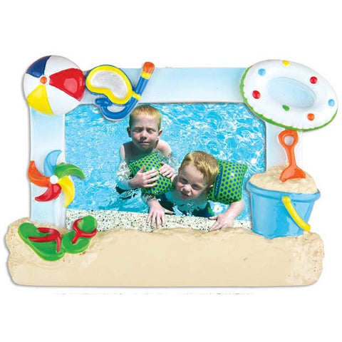 PF1156 - 1st Day at The Beach Frame Personalized Christmas Ornaments