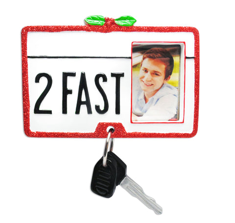 PF1593 - New Car Personalized Christmas Ornament