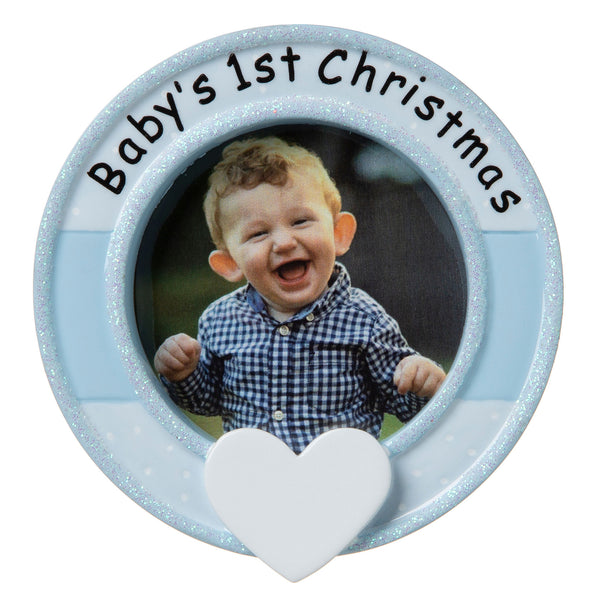 PF1641-B - Frame (Blue) Personalized Christmas Ornament