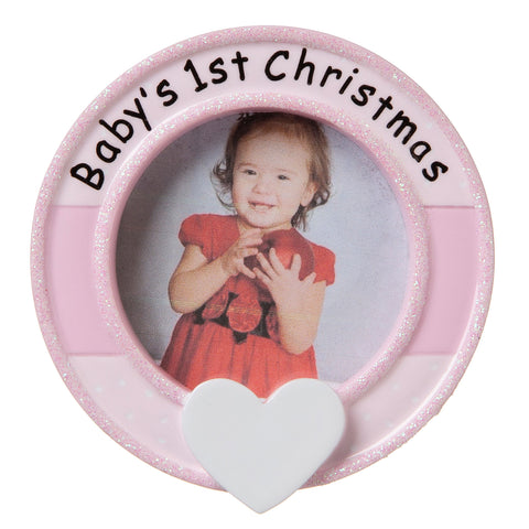 PF1641-P - Frame (Pink) Personalized Christmas Ornament