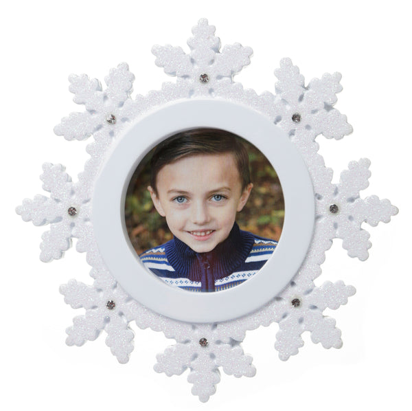 PF1714 - General Snowflake Picture Frame Personalized Christmas Ornament
