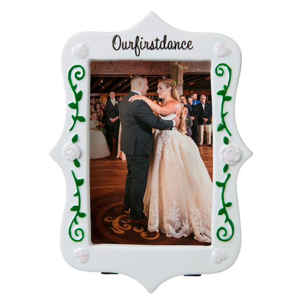 PF1763 - First Dance as Mr. & Mrs. Picture Frame Personalized Christmas Ornament