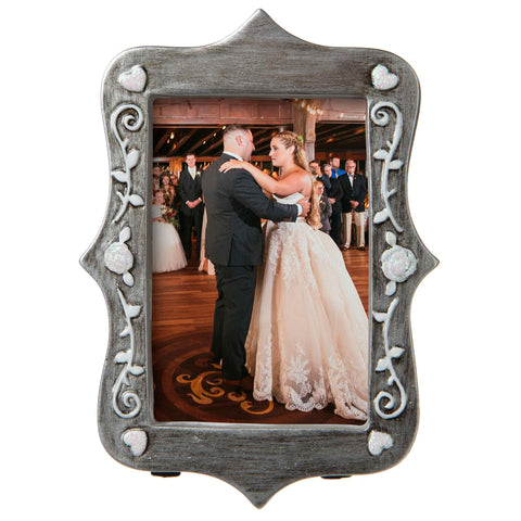 PF1764 - Pewter Picture Frame Wedding Picture Frame Personalized Christmas Ornament