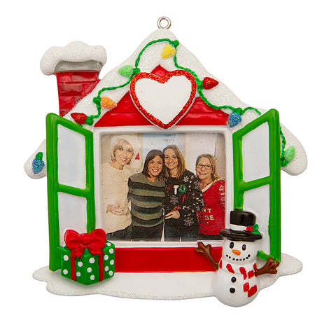 PF1768 - New Home Photo Frame Personalized Christmas Ornament
