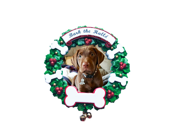 PF1899 - Bark The Halls Personalized Christmas Ornament