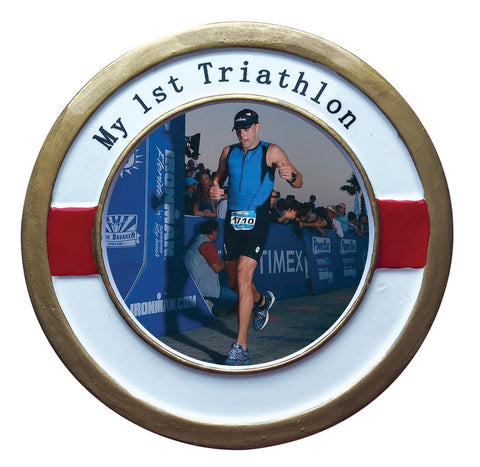 PF1935 - My 1st Triathlon Personalized Christmas Ornament