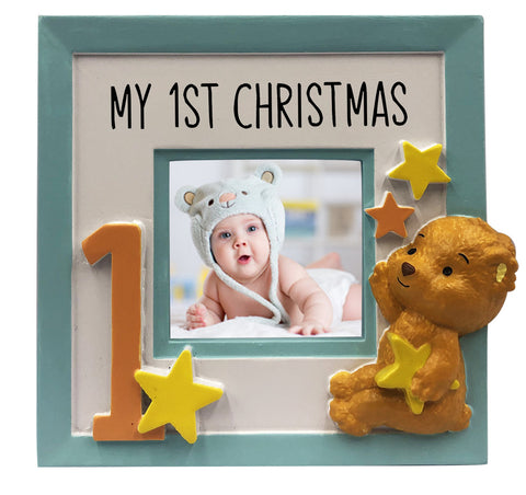PF2037 - My 1st Christmas Picture Frame Personalized Christmas Ornament