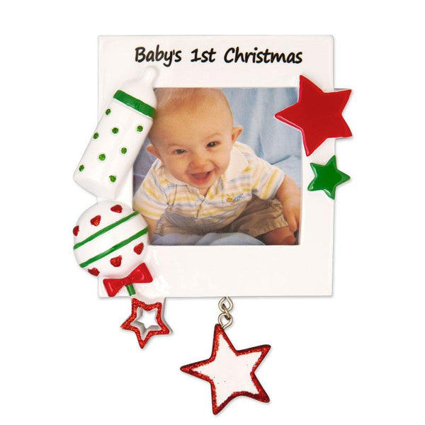 PF600-RG - Christmas Baby Frame (Red & Green)