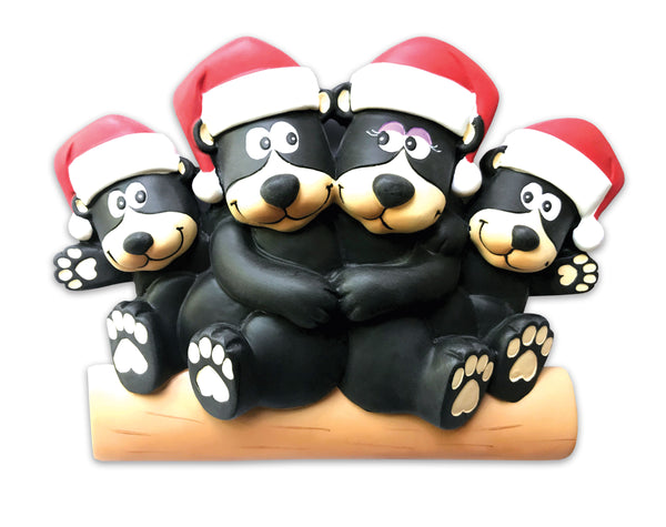 TT1215-4 - Black bear family of 4 Table Topper