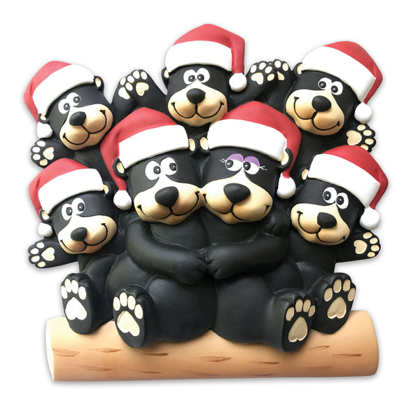 TT1215-7 - Black bear family of 7 Table Topper