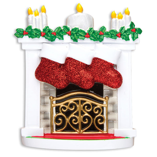 TT1253-3 - Mantle with Christmas Stockings Table Topper (Family of 3)