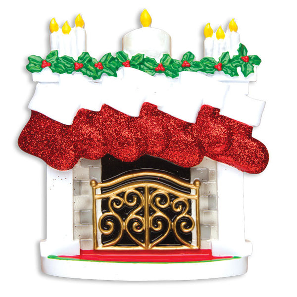TT1253-7 - Mantle with Christmas Stockings Table Topper (Family of 7)