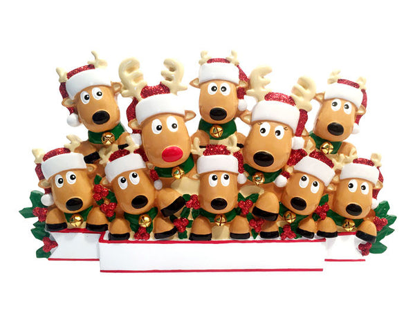 TT1527-10 - New Reindeer (family of 10) Table Topper