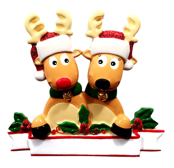 TT1527-2 - New Reindeer Family (couple) Table Topper