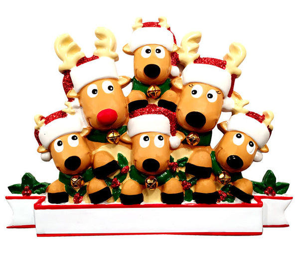 TT1527-6 - New Reindeer (family of 6) Table Topper