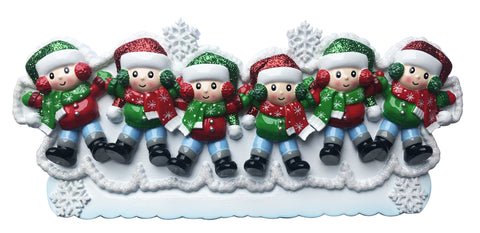 TT1662-6 - Snow Angel Family of 6 Table Topper