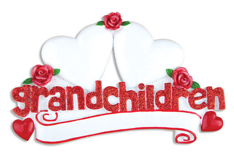 TT529-2 - Grandchildren with Two Hearts Table Topper