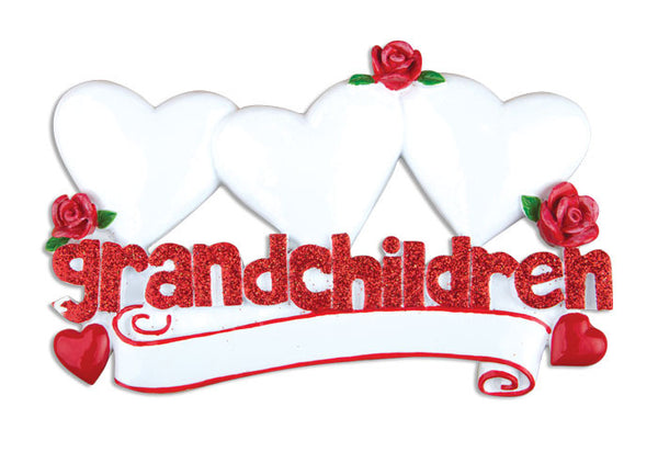 TT529-3 - Grandchildren with Three Hearts Table Topper