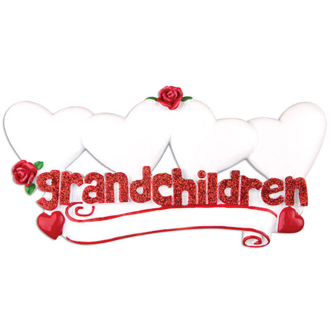 TT529-4 - Grandchildren with Four Hearts Table Topper