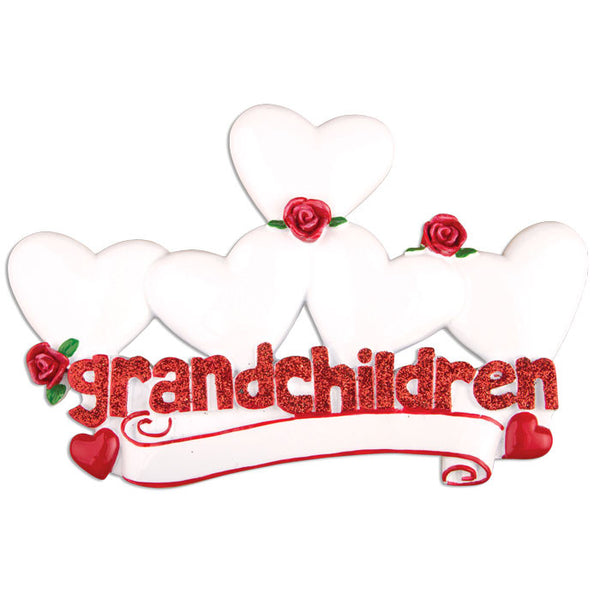 TT529-5 - Grandchildren with Five Hearts Table Topper