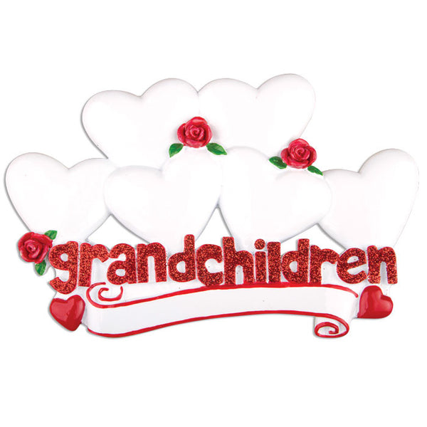 TT529-6 - Grandchildren with Six Hearts Table Topper