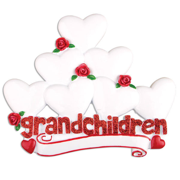 TT529-7 - Grandchildren with Seven Hearts Table Topper