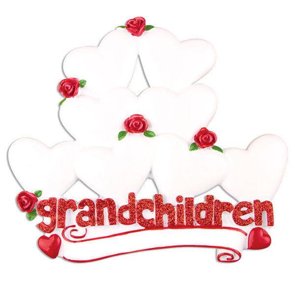 TT529-8 - Grandchildren with Eight Hearts Table Topper