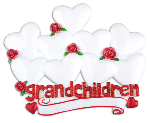TT529-9 - Grandchildren With Nine Hearts Table Topper