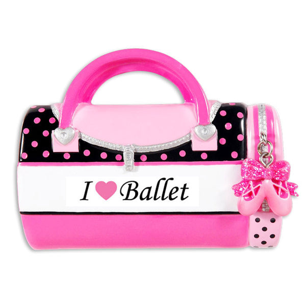 OR1349-BALLET - Child's Ballet Bag Personalized Christmas Ornament