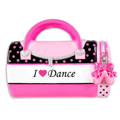 OR1349-DANCE - Child's Dance Bag Personalized Christmas Ornament