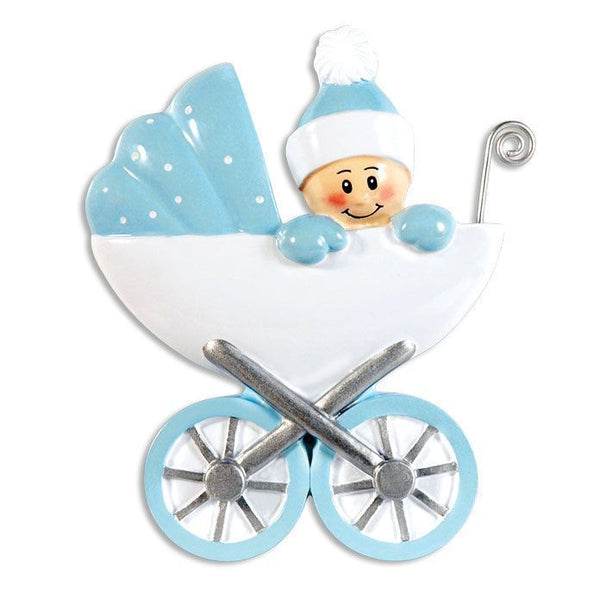 OR896-B - Baby in Carrage-Blue