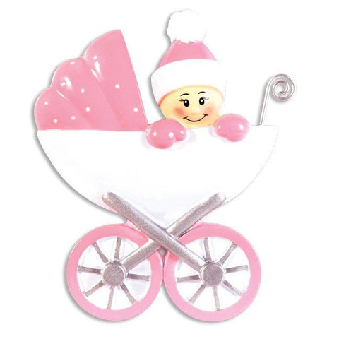 OR896-P - Baby in Carrage-Pink