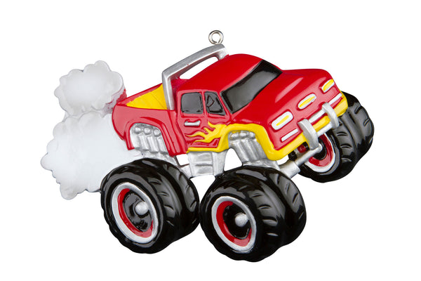 OR641-RED - General Monster Truck Red Personalized Christmas Ornament