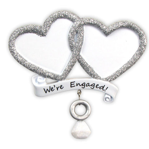 OR822 - We're Engaged! Personalized Christmas Ornament
