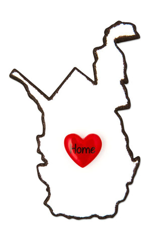 OR1615-WV - West Virginia Personalized Christmas Ornament