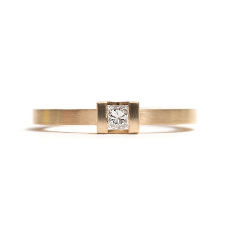 Curve Set Diamond Ring by David Parker