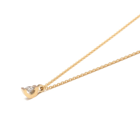 Curve Diamond Pendant
