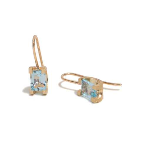 Topaz Curve Claw Earrings by David Parker