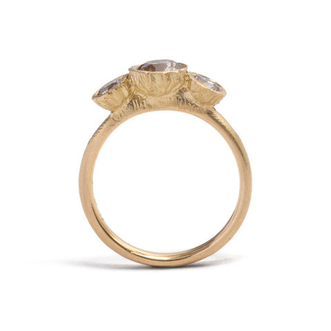 Precious Big Rock Trio Ring