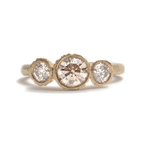 Precious Big Rock Trio Ring by Karla Way
