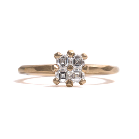Quadruple Asscher Cut Diamond Soul Mates Ring