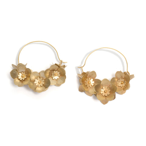 Fiori Hoop Earrings by David Neale