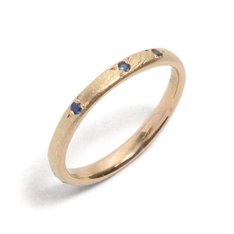 Scattered Stones Sapphire Ring