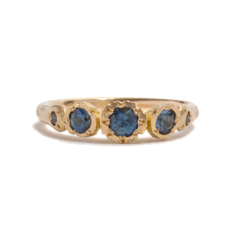 Rock Garden Grandi Sapphire Ring by Karla Way
