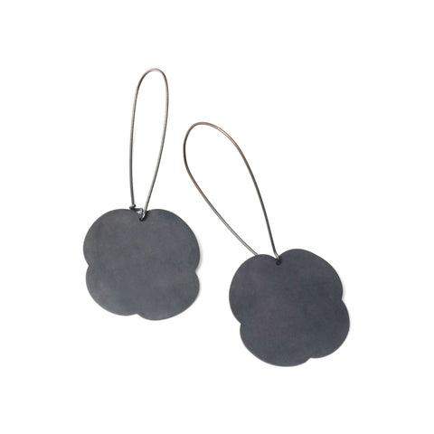 Odd Shaped Flower Earrings
