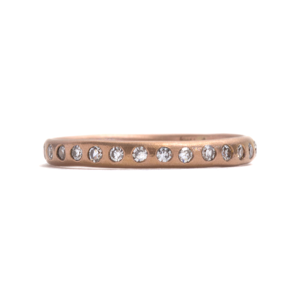 Eternal Love Rose Gold and White Diamond Ring